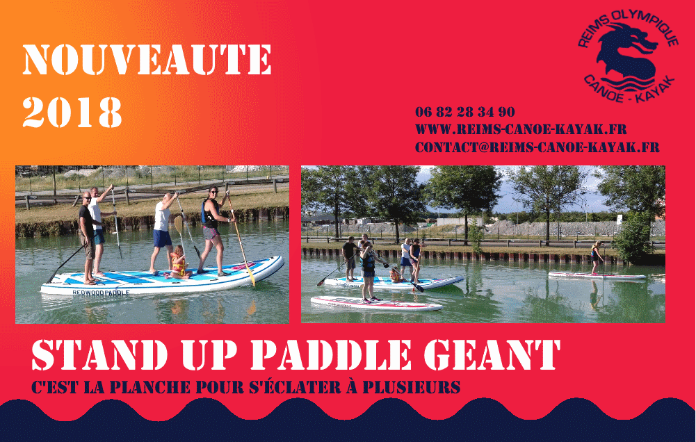 affiche paddle-geant