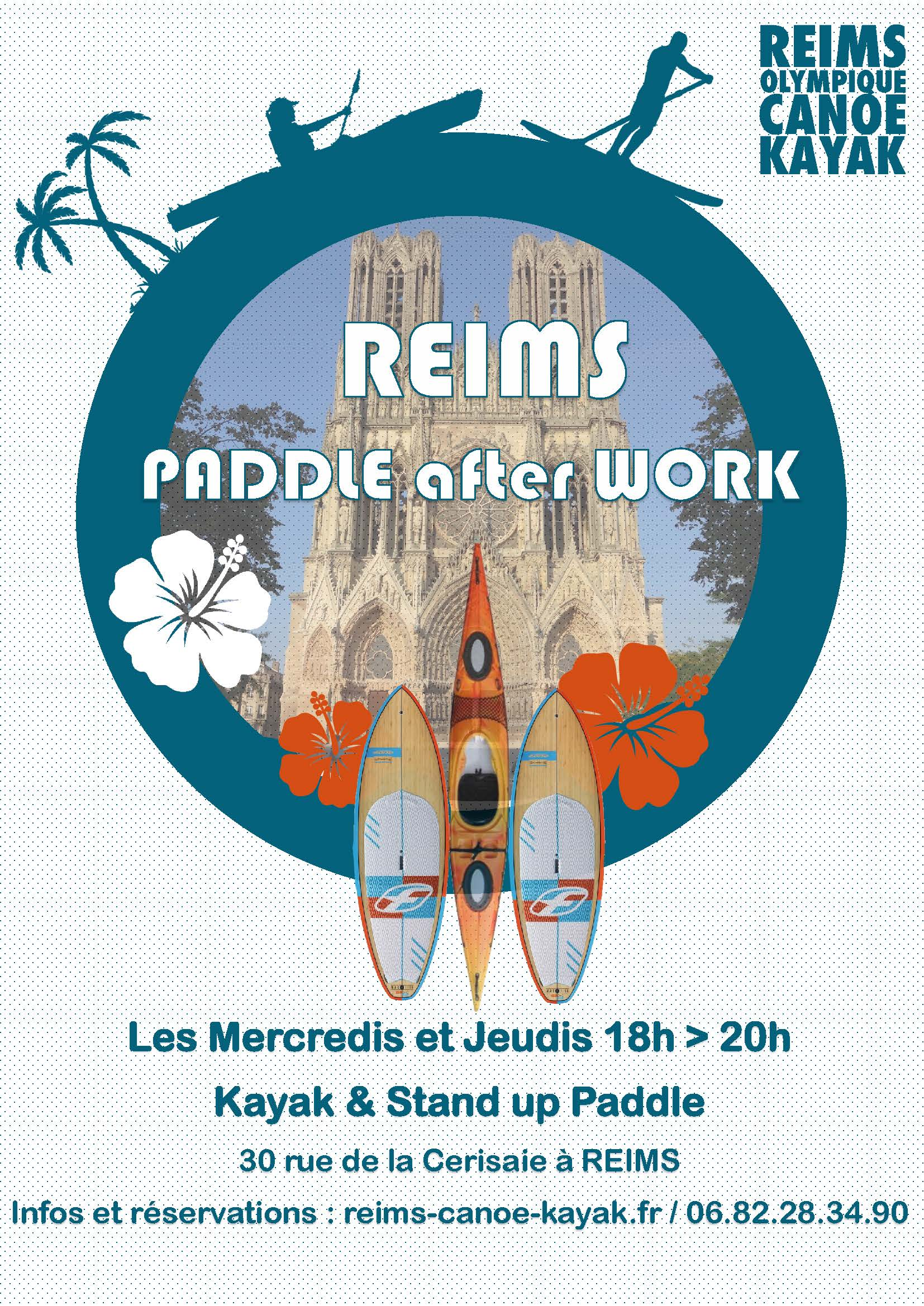 paddle flyer after work rentree reims